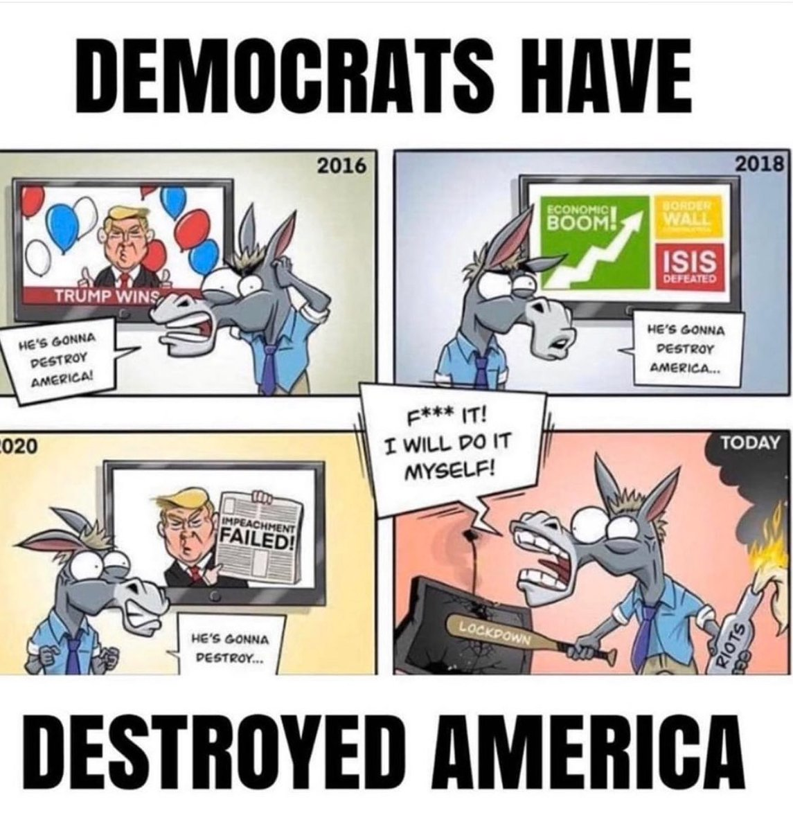 ...and they ARE doing it themselves!!!! #destructivedemocrats