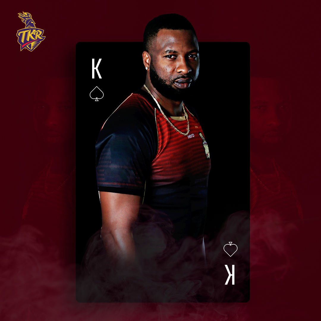 K for King. K for Knight. K for Kieron. Oh captain, our captain! 👑  Our camp's underway, and we're just 2⃣0⃣ Days away from #TheHomeRun ♠️  Smash the ♥️ if you #CantWait to see @KieronPollard55 lead the #TKR boys out on the field again at #CPL2020 🏆  #TrinidadandTobago #Cricket