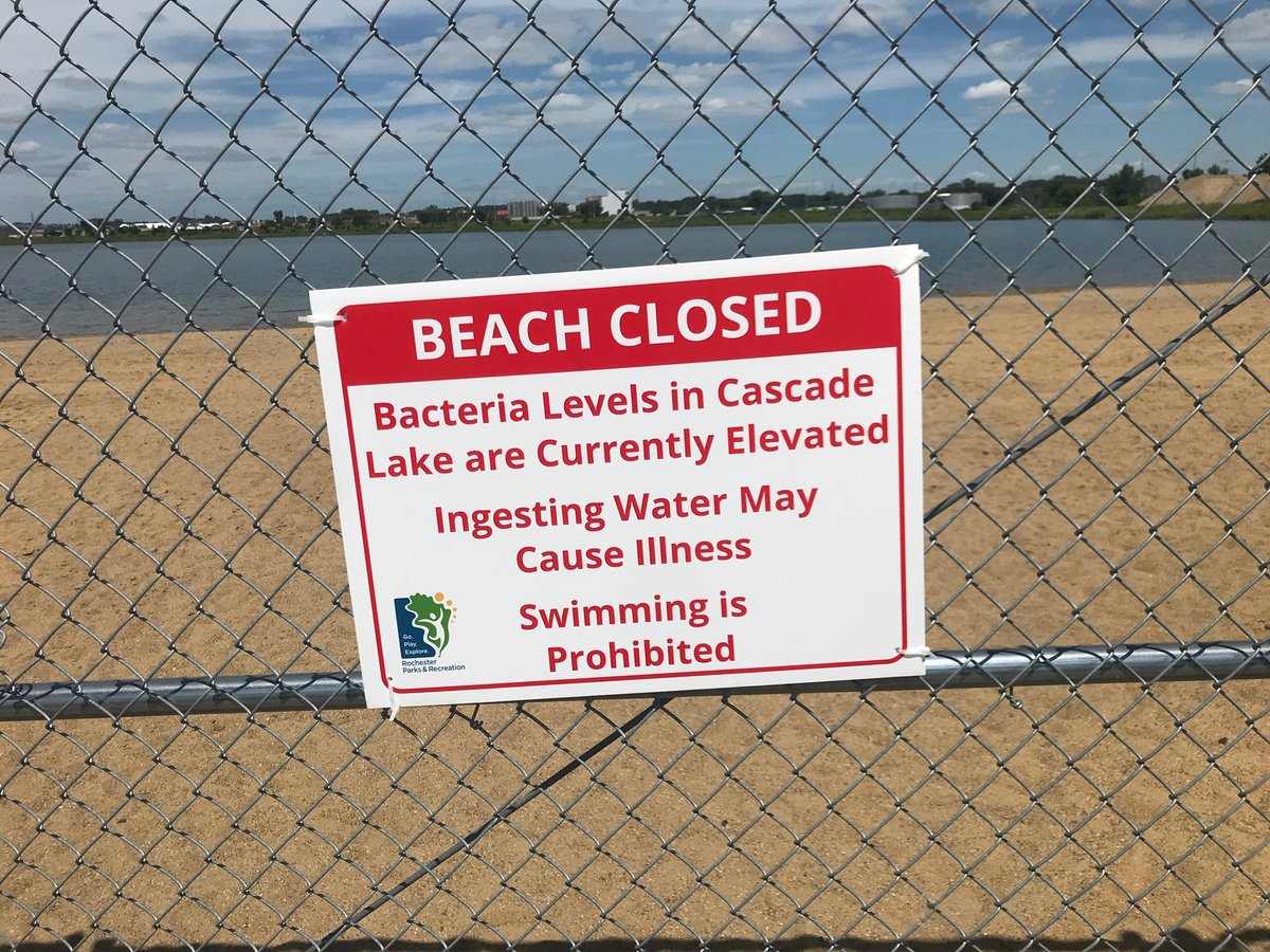 With the health and safety of all #rochmn park users in mind, Parks & Recreation has voluntarily closed the Cascade Lake beach until test results return to an acceptable level.