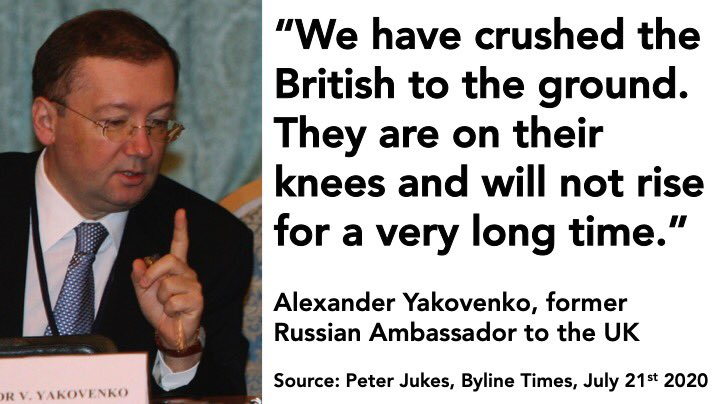 This is what the Russian Ambassador had to say about wrecking the UK ⬇️😠 How do #Brexit types still think that *they* are the patriots?! 😖✊🌹🇪🇺 #RussiaReport #ToryTraitors #ToriesOut #resist @BylineTimes @peterjukes