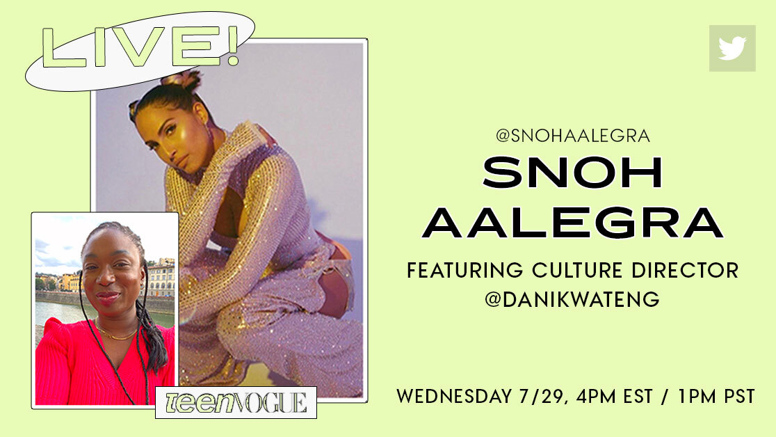 Hiiii everyone, it's Teen Vogue's culture director @danikwateng here! I'll be chatting with the AMAZING @snohaalegra in this thread 👇🏿👇🏿about new music, how she's been spending 2020, and more.
