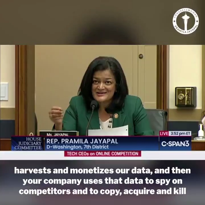 Facebook is a case study in monopoly power: It harvests and monetizes our data, then uses it to spy on competitors—to copy, acquire, and kill rivals.  This destructive model makes it impossible for new companies to flourish—harming our democracy, small businesses, and consumers.