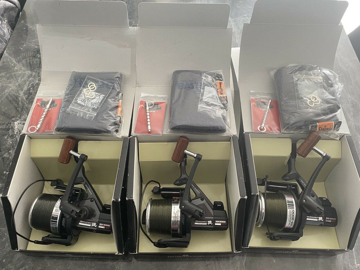 Ad - Daiwa SS3000 reels - Re-release (x3) On eBay here -->> https://t.co/oGlRXKMdZg  #carpfish