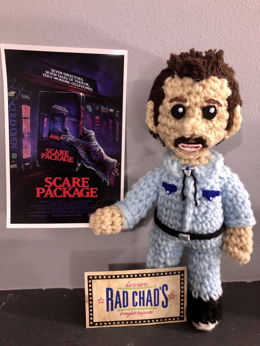 Thank you @Shudder and @ScarePackage for the delightful membership card. Unfortunately, it did attract this 🧶 Rad Chad who's literally done nothing but judge my physical media collection all 👏🏾fucking 👏🏾day👏🏾......it's been exhausting😒