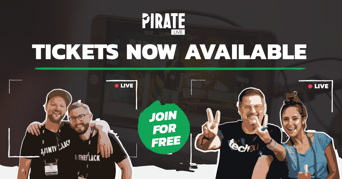 We are LIVE mateys! 🎇🚀  You can now join PIRATE Live, Startup SAFARI Rhineland, and the OUT OF THE BOX Award - all in one - in a 100% remote and 100% ARRRsome setup for free! 🎟  Visit  to sign up.   #piratelive #arrr #givegivegiveask