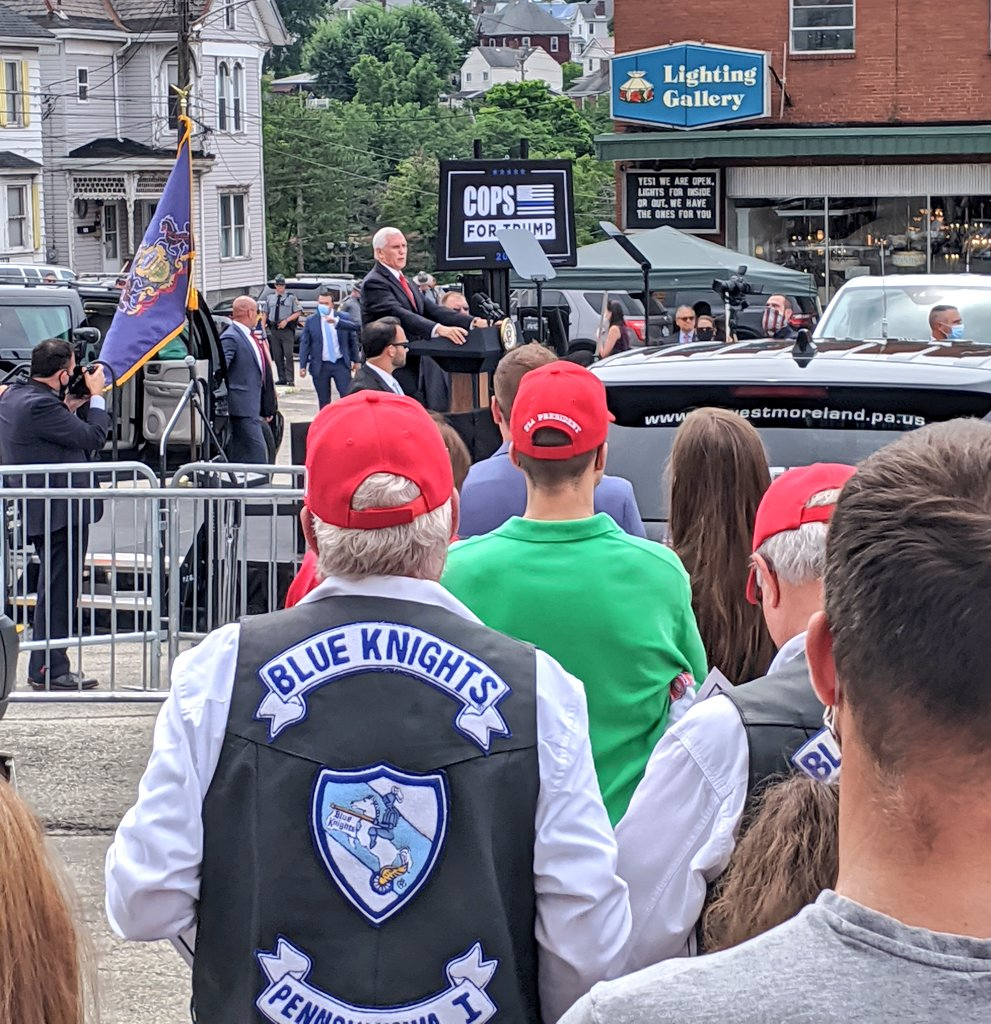 Thank your @Mike_Pence for visiting us in Greensburg today! The Great American Comeback is here!  #LeadRight #TeamPA #CopsForTrump