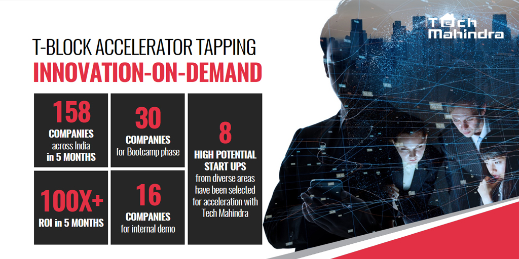 Delighted at #TBlockAccelerator's  outcome, an initiative with Telangana Govt. under Blockchain Dist. @tech_mahindra  5 months' intense search led us to identify 8 high pot startups that are ready for accelerated growth..  Thx @jayesh_ranjan @KTRTRS @ramadevi_lanka @IBCMedia_