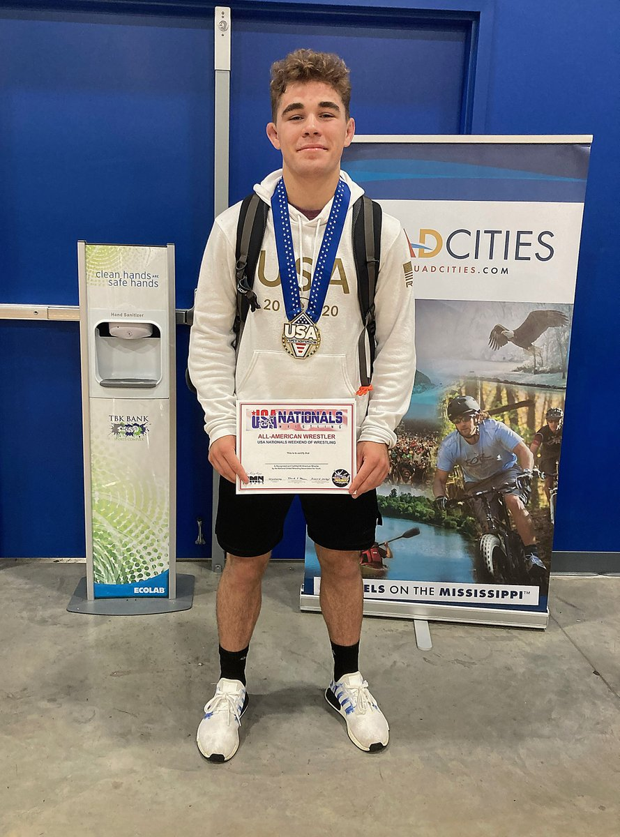 WRESTLING Madison Central senior Zac Cowan claimed the title last weekend at the prestigious USA Nationals Championship in Iowa. He dominated the field in the 145-pound weight class, beating a host of nationally talented wrestlers @m_cwrestling