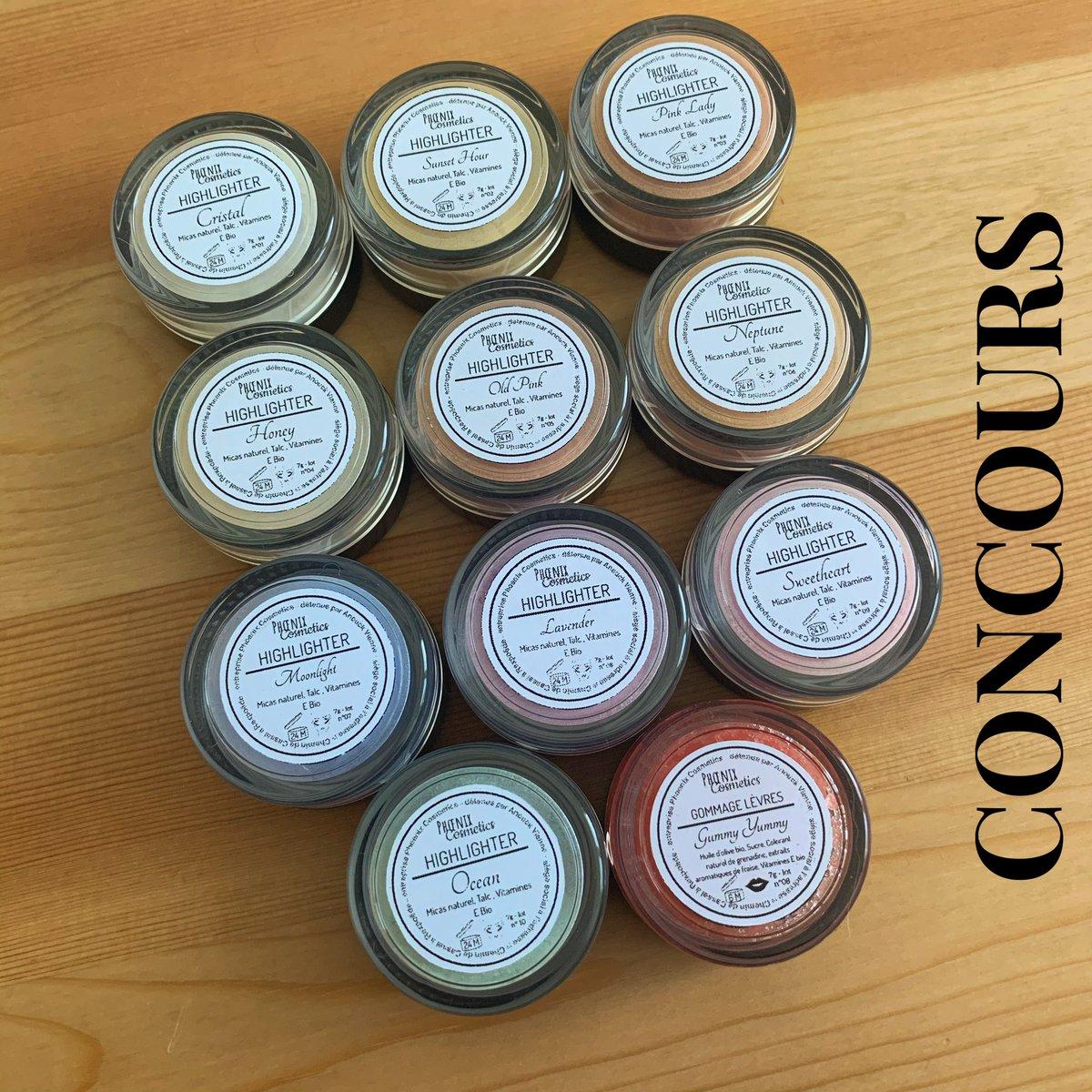 🍀 CONCOURS 🍀  Pour fêter les 1 an de Phoenix Cosmetics, nous organisons un concours composé de tous les produits de notre marque !   Conditions :   - être abonné à @PhoenixCosm_  - retweeter   Bonus : follow @/phoenix_cosmetics_ sur instagram !  Fin : 30.07 minuit  ! 🤞🏻🍀