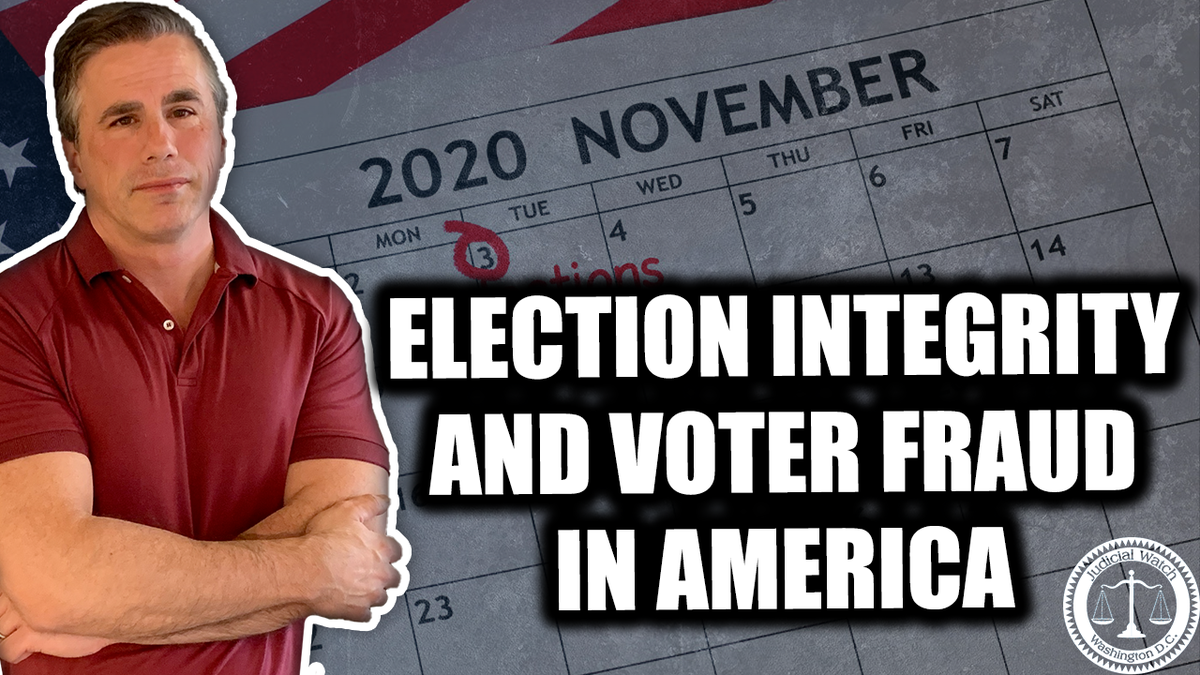 """""""Americans should be concerned about the election. If you want your vote to count, you should go vote in person!"""" @JudicialWatch President @TomFitton. #electionintegrity #election2020 Watch more:"""