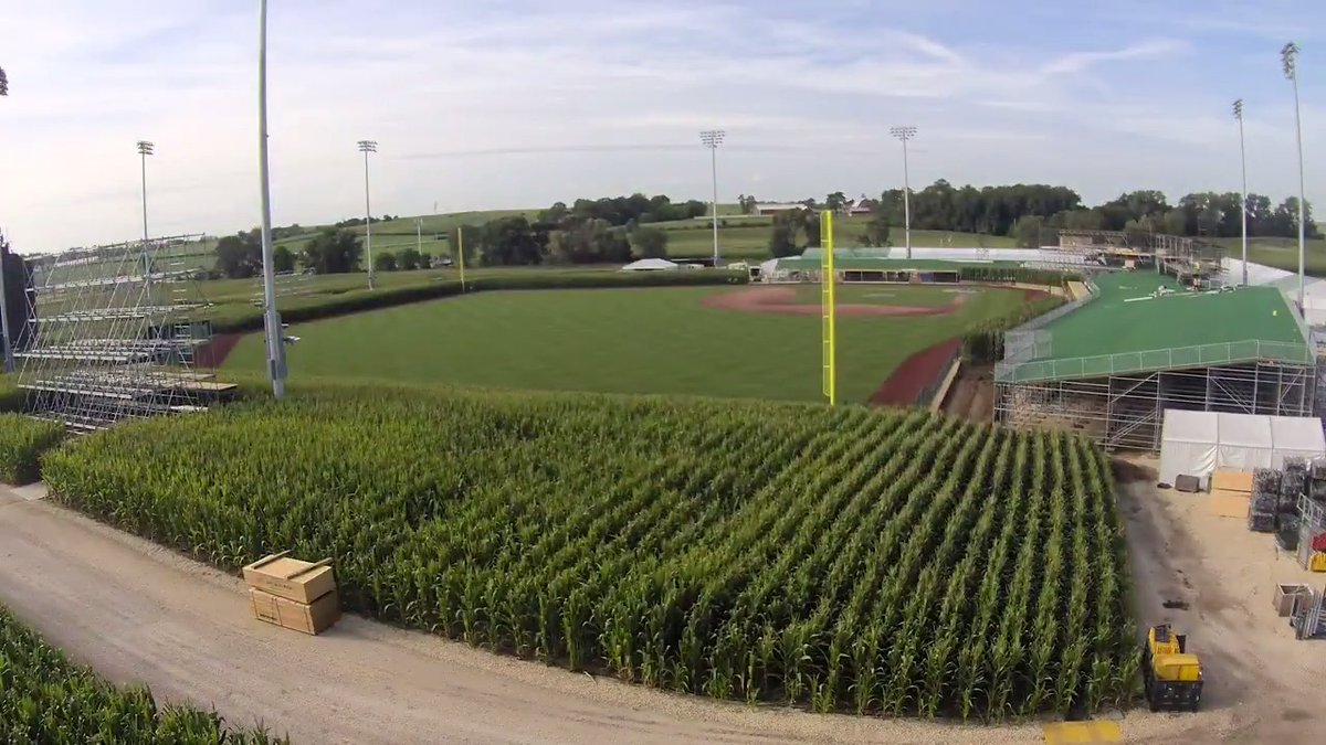 MLB at Field of Dreams is becoming a reality.  (MLB x @GEICO)