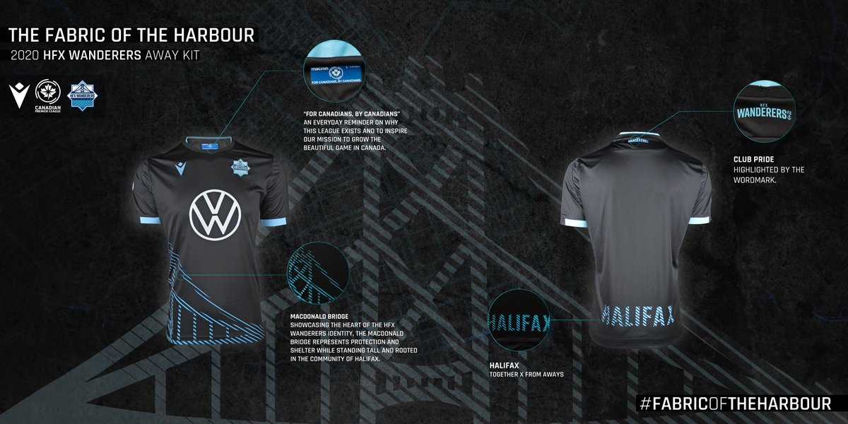 The fabric of our harbour 🌉   Our Wanderers 2020 away kit is available NOW!  🛒   #WeWanderTogether | #CanPL