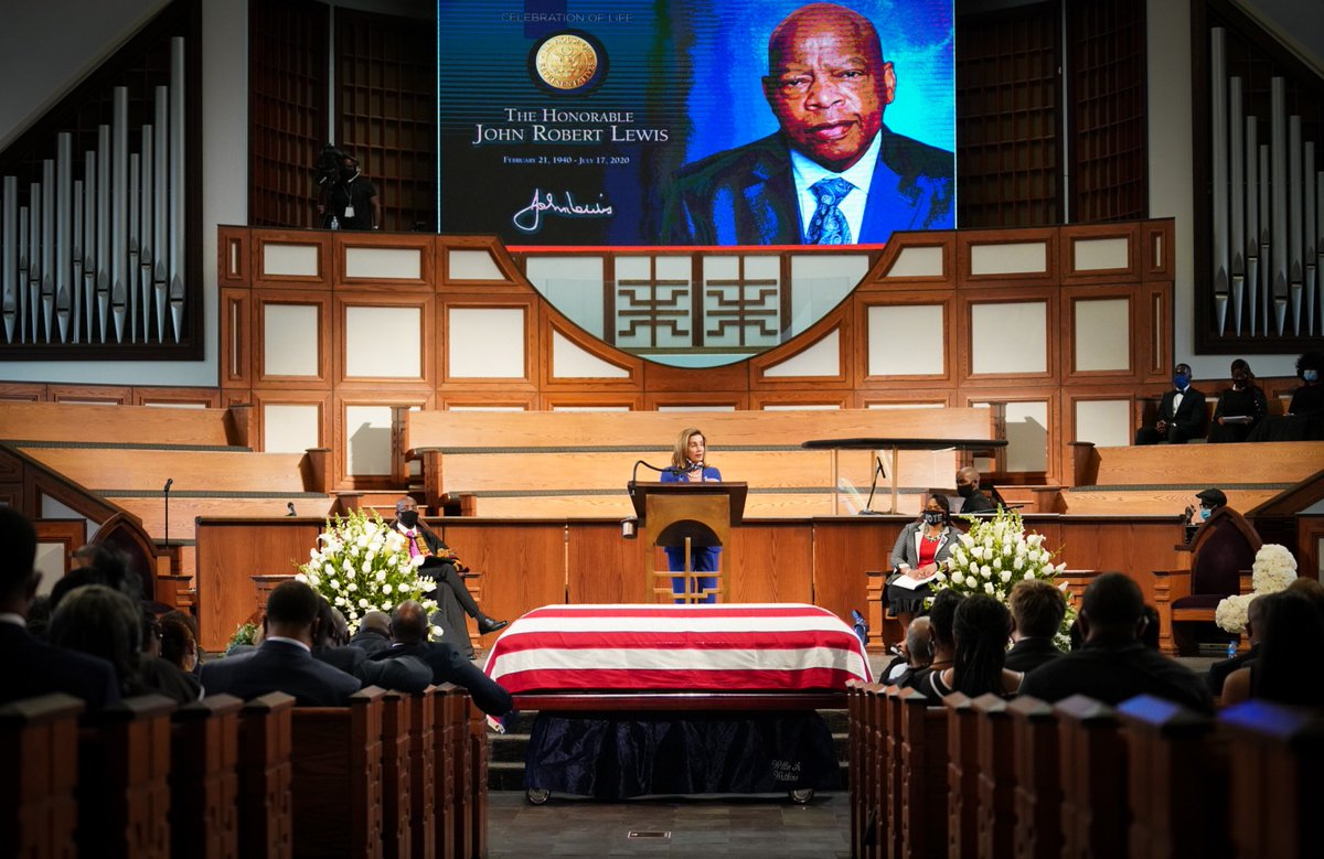 When John Lewis spoke, people listened. When he led, people followed. He was our mentor, our colleague, but most of all, our friend. May he rest in peace.