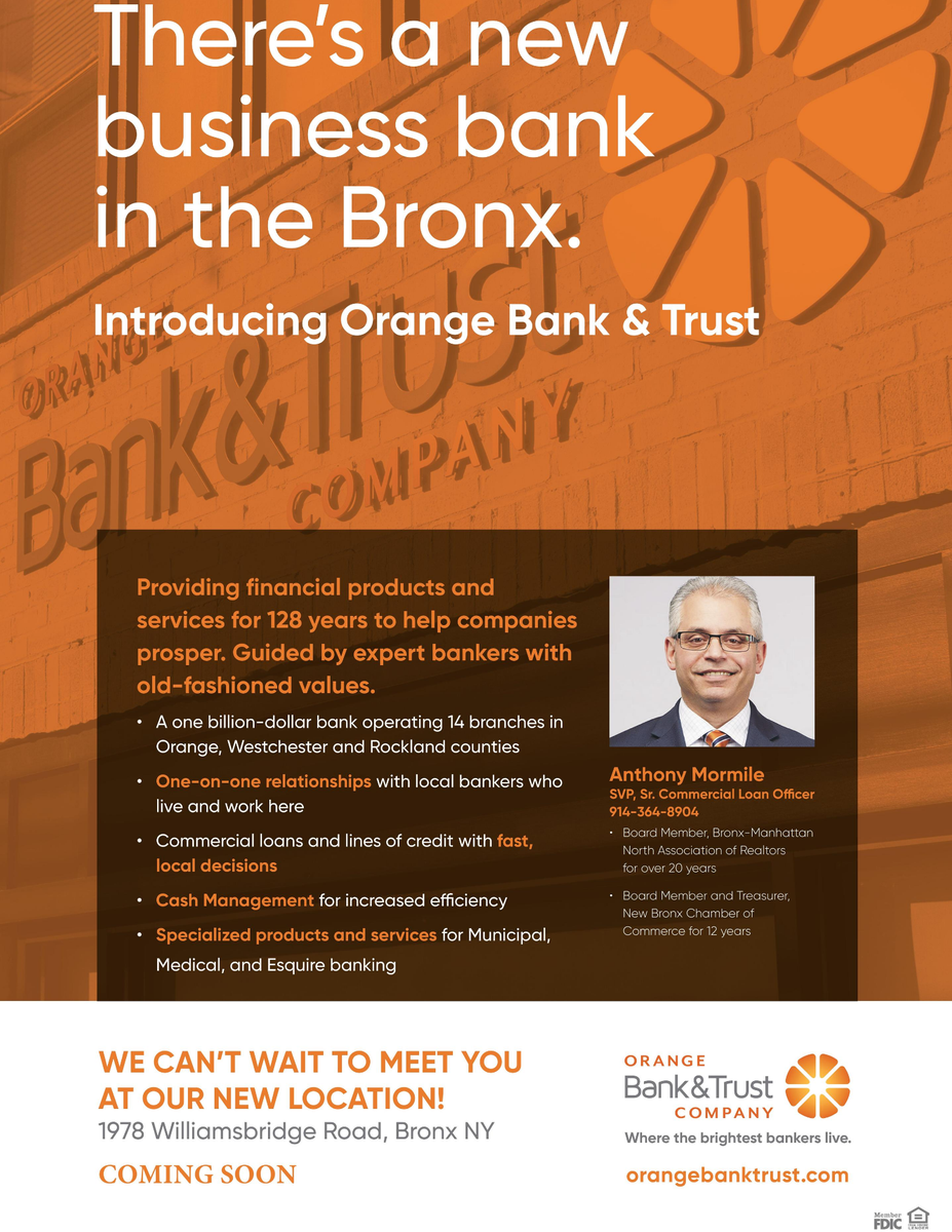 There's a new Business bank in the Bronx! Orange Bank & Trust