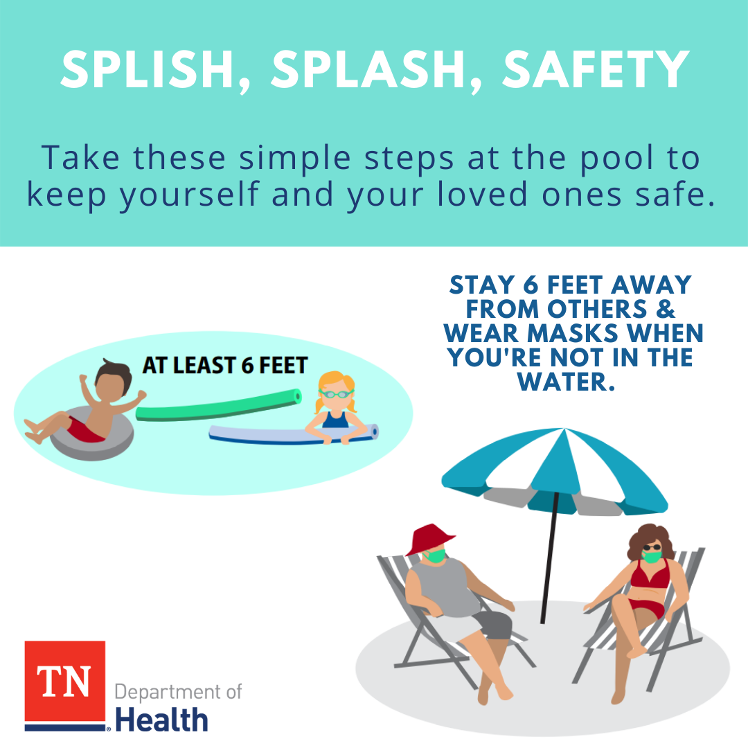 Stay safe while you're making a splash! You can enjoy summer fun and reduce your risk of COVID-19. Learn more tips at: