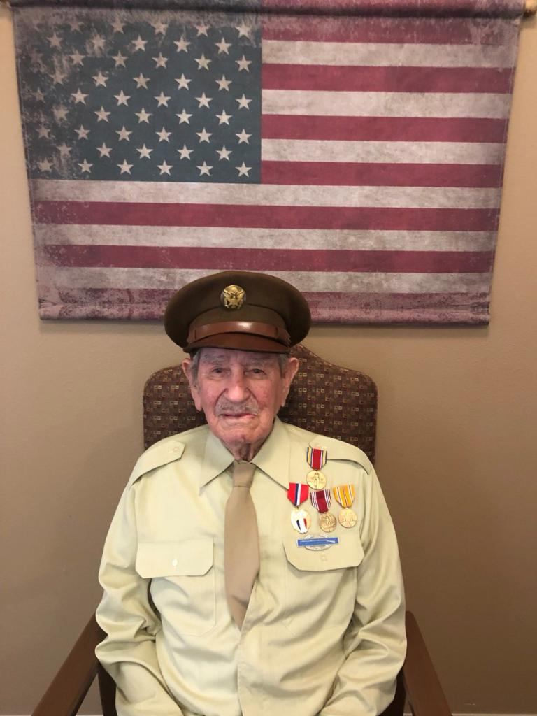 This #Veteran turns 1️⃣0️⃣1️⃣ next week!  Let's see how many people we can get to wish him a #HappyBirthday!  Jesus Holguin served as a rifleman on Guadalcanal, Northern Solomon Islands and Luzon.  #ServedWithHonor