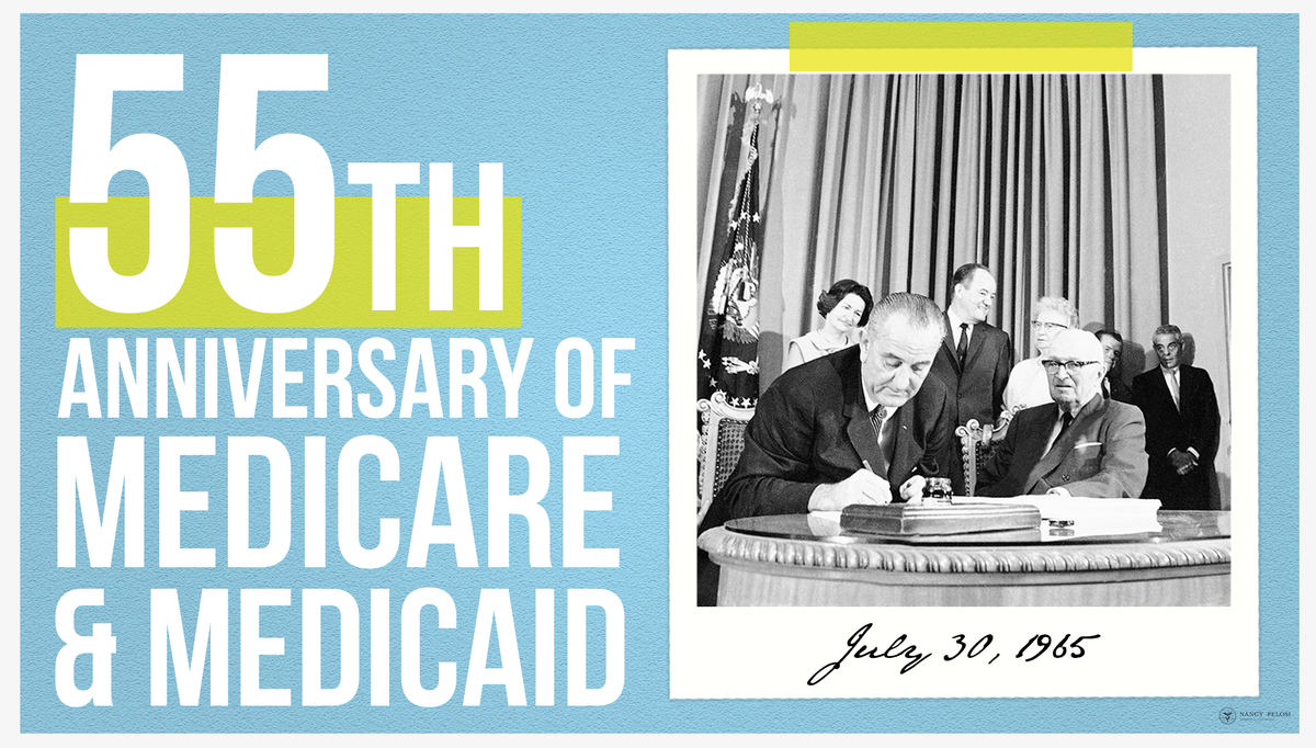For 55 years, #Medicare & #Medicaid have stood as pillars of health and economic security for millions of seniors and families. @HouseDemocrats remain committed to defending these bedrock promises from Republican attacks for years to come.