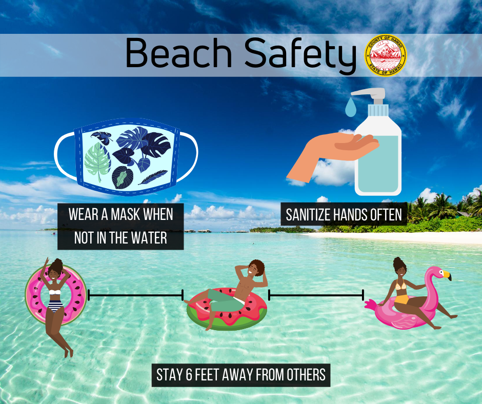 Going to the beach this weekend? The CDC issued guiding principles to keep in mind at the beach. #hawaiibeaches #covidprevention #covidpreventiontips #hawaiicovid19