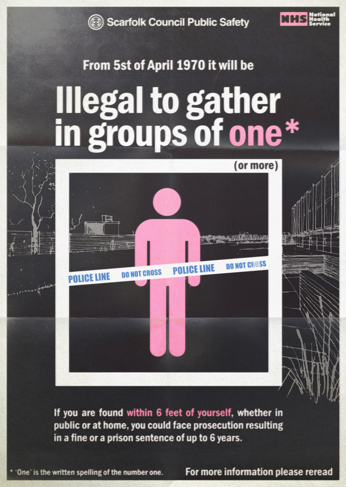 An important reminder from your local council: In the north of England it is now illegal to gather in groups of one. #manchesterlockdown  More info: