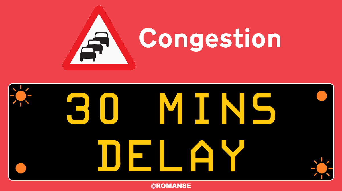 #A31 #TheNewForest 🌲 - approx 30 minute delays westbound between #StoneyCross and J2/#A36 #Ower.