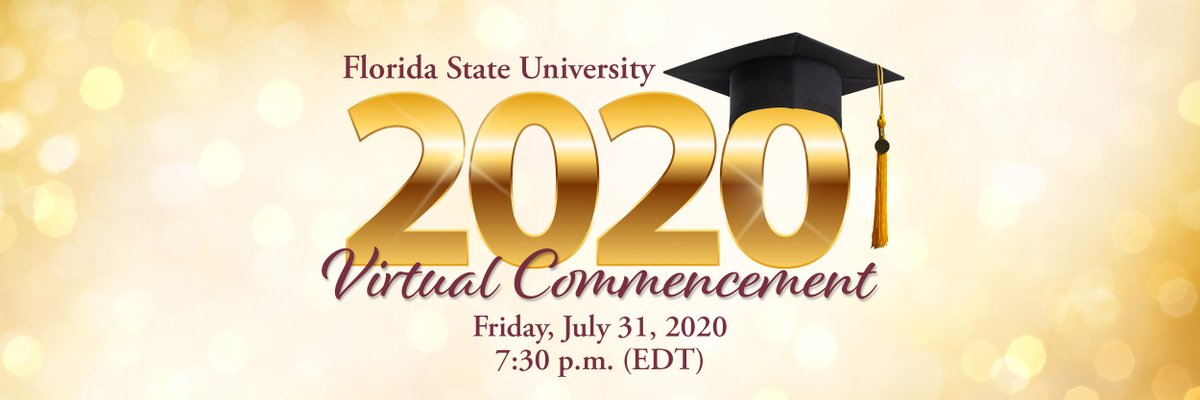 We're so excited to celebrate the Class of 2020 this evening! We hope you tune in to our virtual commencement ceremony by going to   Congratulations on all your accomplishments, #FSU20! We're incredibly proud of you!