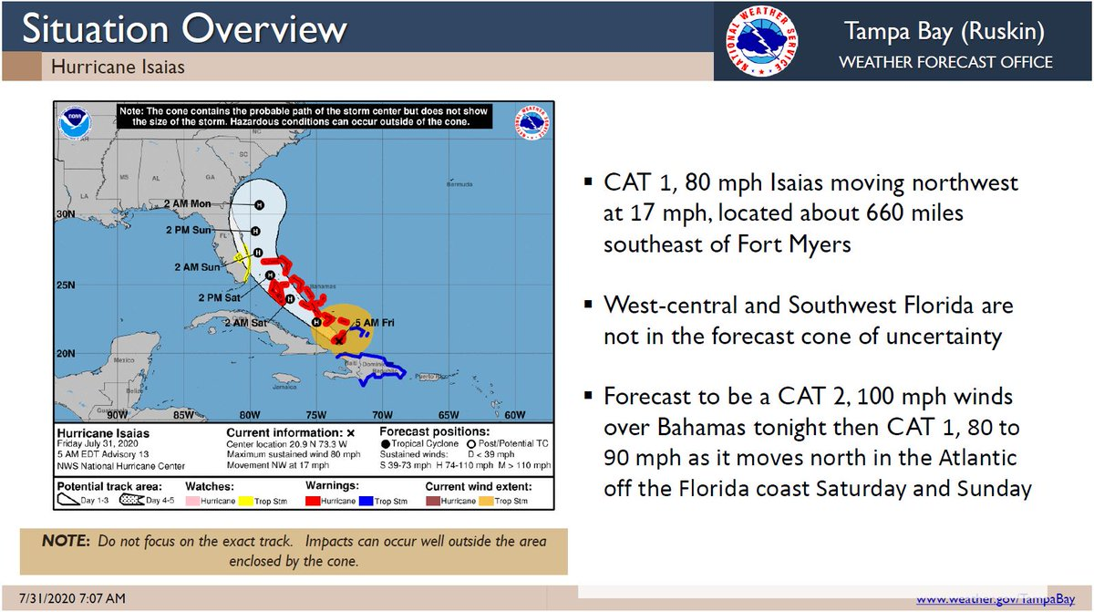 More #goodnews for Levy Cnty. Although we aren't expected to experience significant issues from #HurricaneIsaias we don't ever let our guard down until the storm passes. Keep those on the east coast in your prayers and follow @NHC_Atlantic and @NWSTampaBay for the latest updates