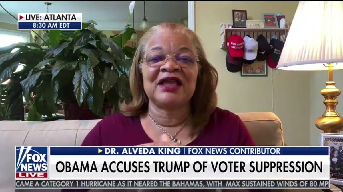 .@AlvedaCKing is right to call out the politicization of yesterday's funeral services for Civil Rights icon, John Lewis.   If a Republican brought politics into a funeral the way @BarackObama & @ReverendWarnock did, they would be attacked relentlessly by the media and the Left.