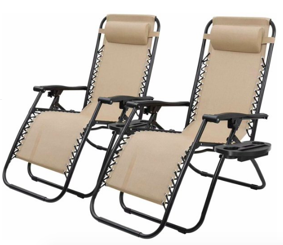 RT @StealSupply: Zero Gravity Chair Set of 2 for $66.65 via Walmart =>...