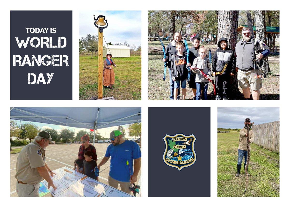 Shout-out to our rangers for #WorldRangerDay!   👏👏👏  We're grateful for their hard work, and we're happy to celebrate them today. #BrazoriaCounty #BrazoriaCountyParks