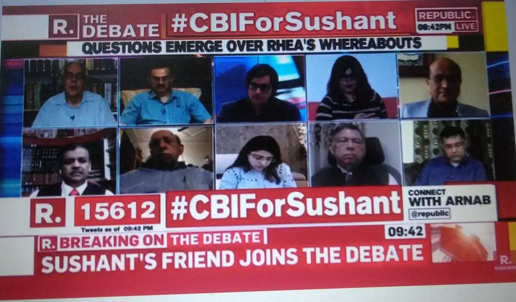 "#CBIForSushant What Smita is saying ..that after #DishaSalian 's death he was constantly saying that ""Ye log ab mjhe nhi chorenge""  This clearly indicates that he was being murdered ! .. Why the hell everyone is saying that it was a suicide????  IT WAS A MURDER! @republic"