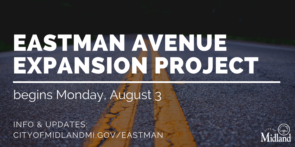 The long-awaited expansion project on Eastman Ave begins Monday, 8/3. Work will add thru & turn lanes on Eastman at Airport Rd, upgrade traffic signals & repave Eastman from Joe Mann to Wackerly.   View lane closure info, updates, & more @ .