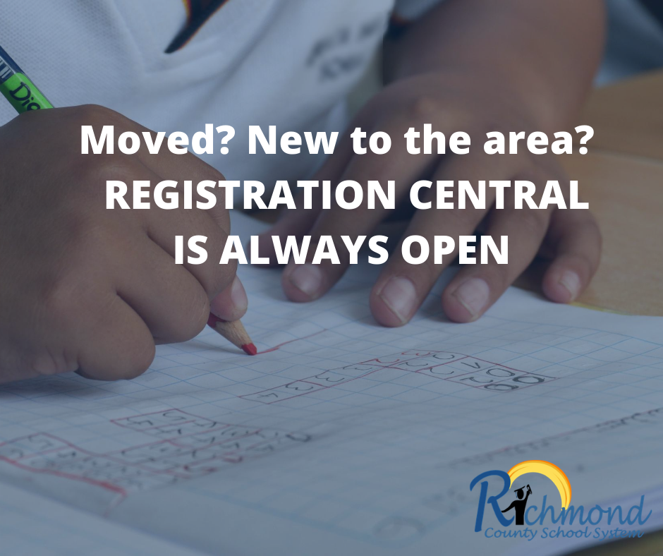 Are you new to the area or are you trying to register your student?  Click the link below to access our Registration Central!
