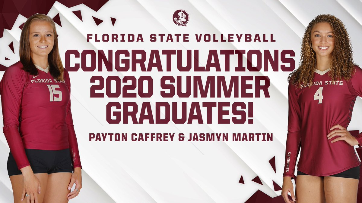 Succeeding through a spring and summer semester unlike any other, CONGRATS to Payton and Jasmyn on graduating from Florida State!