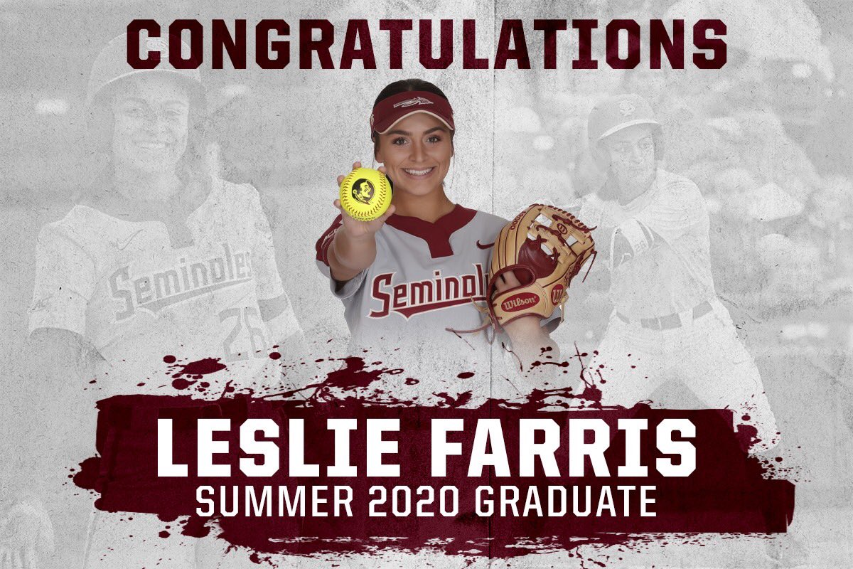 An outstanding person, a National Champion, and now a Florida State graduate! CONGRATS Leslie! #smart
