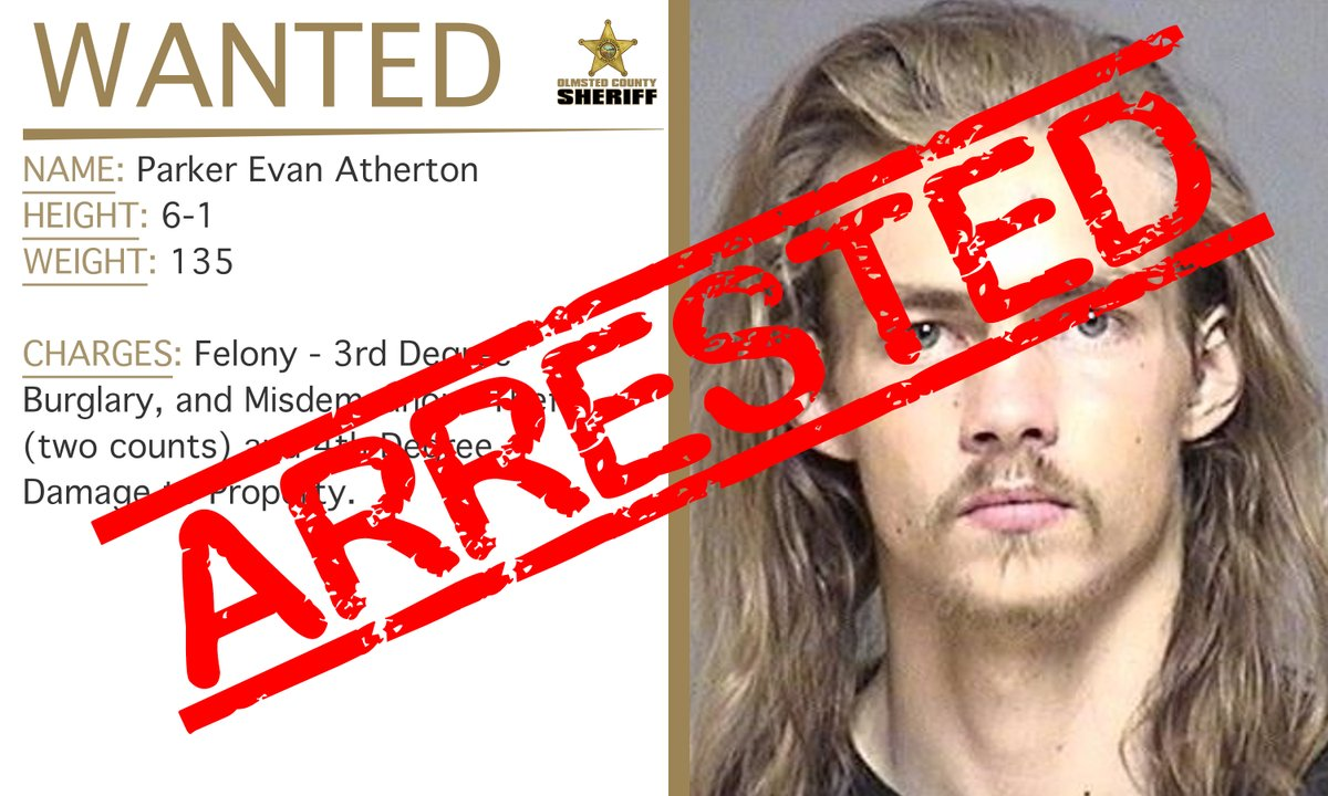 UPDATE: Both Parker Evan Atherton and Santos Vargas Jr. have both been arrested.   Thank you to everyone that shares our info. Your assistance in reviewing/sharing our #WarrantWednesday videos helps us reach more people who potentially have info on those wanted in #OlmstedCounty.