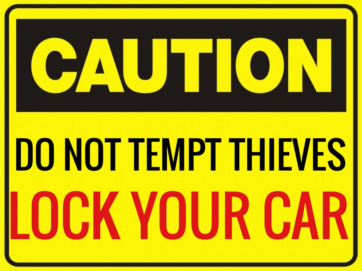 Unlocked cars are the main 🎯 target of auto burglars. Remember to lock your car 🚗 tonight and to report any suspicious activity in your 🏘neighborhood.  #LockItUpLaredo #SeeSomethingSaySomething