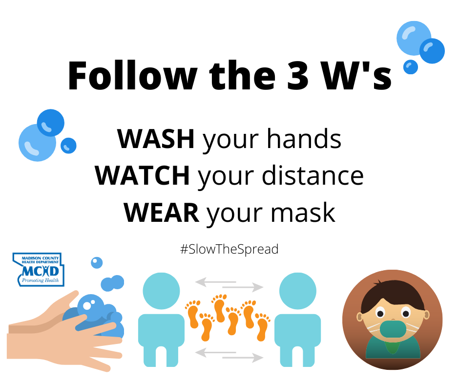 These 3 simple steps can help protect you and others while slowing the spread of COVID-19.  #COVID19 #coronavirus #SlowTheSpread #publichealth #AllInIllinois #PublicHealthInAction