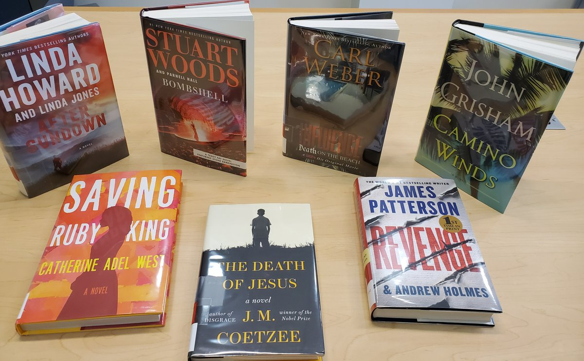 Looking for some new fiction? Here are a few books available at BLC right now. Place a hold today and pick it up next week as we become a Grab & Go branch.