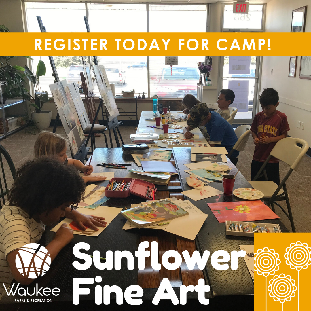 Sunflower Fine Art has two classes left for grades K-10th! Sign artists up for this program which focuses on drawing and painting landscapes, architecture, plants, animals and people. Sign up for the Aug. 10-14 class at .