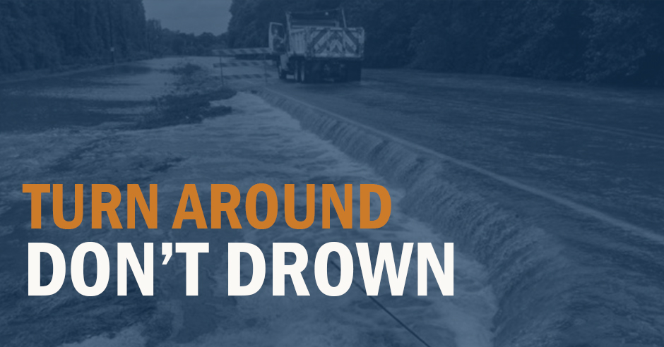 With rain in the area, don't forget to slow down and drive to conditions.  Never drive into high water. #TurnAroundDontDrown #ATXtraffic #BeSafeDriveSmart #EndTheStreakTX