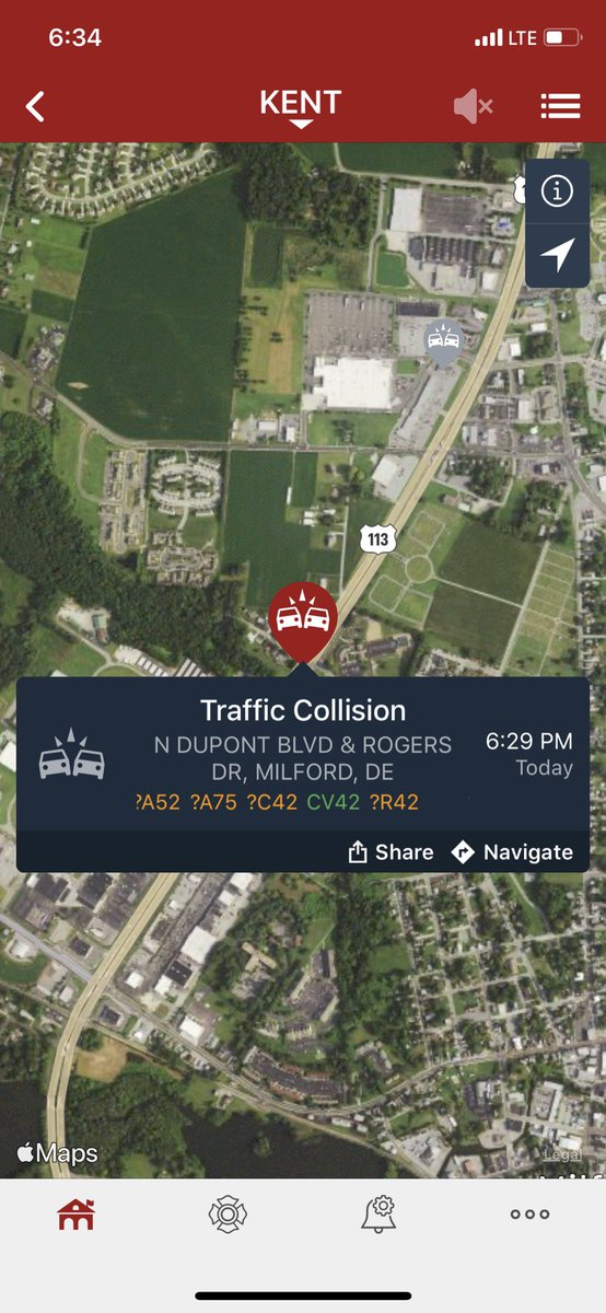 Avoid North DuPont Boulevard (US Rt 113) at Rogers Drive due to emergency personnel on the scene of a motor vehicle collision.