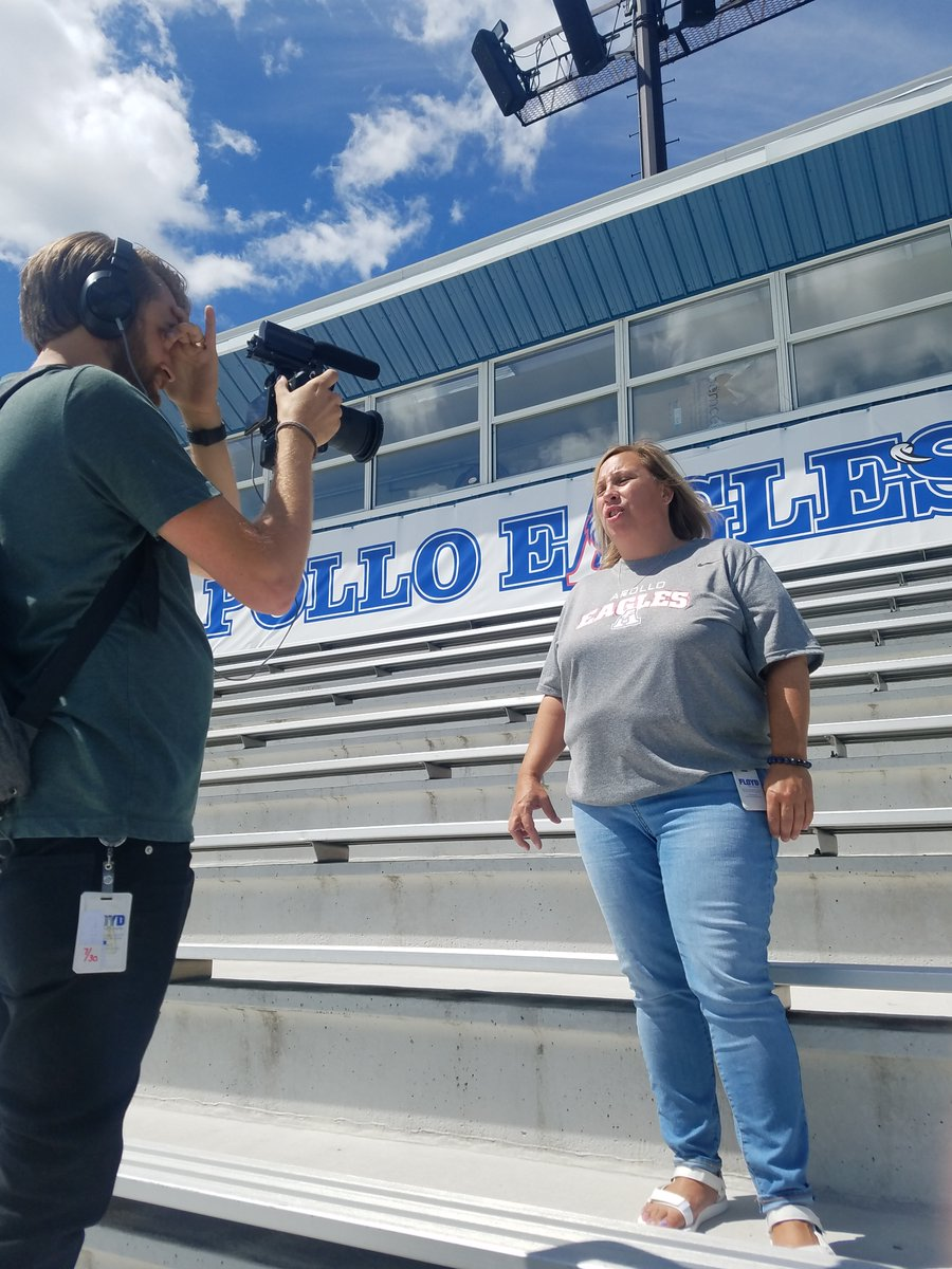 We had a great time filming with Principal Fischer! #welcomefreshmen