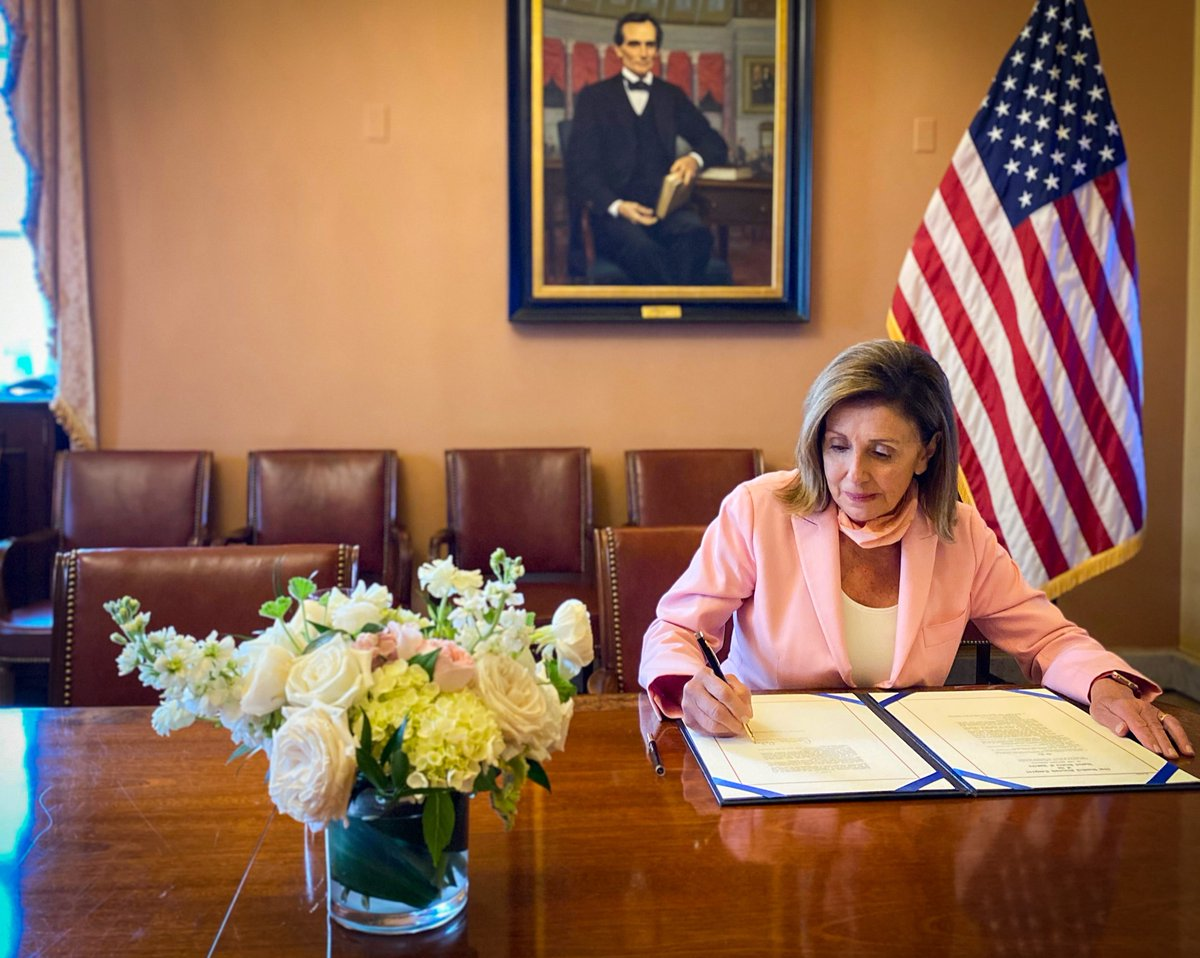 With my signature, @RepWilson's landmark legislation creating a commission on the social status of Black men and boys nationwide heads to the President's desk.
