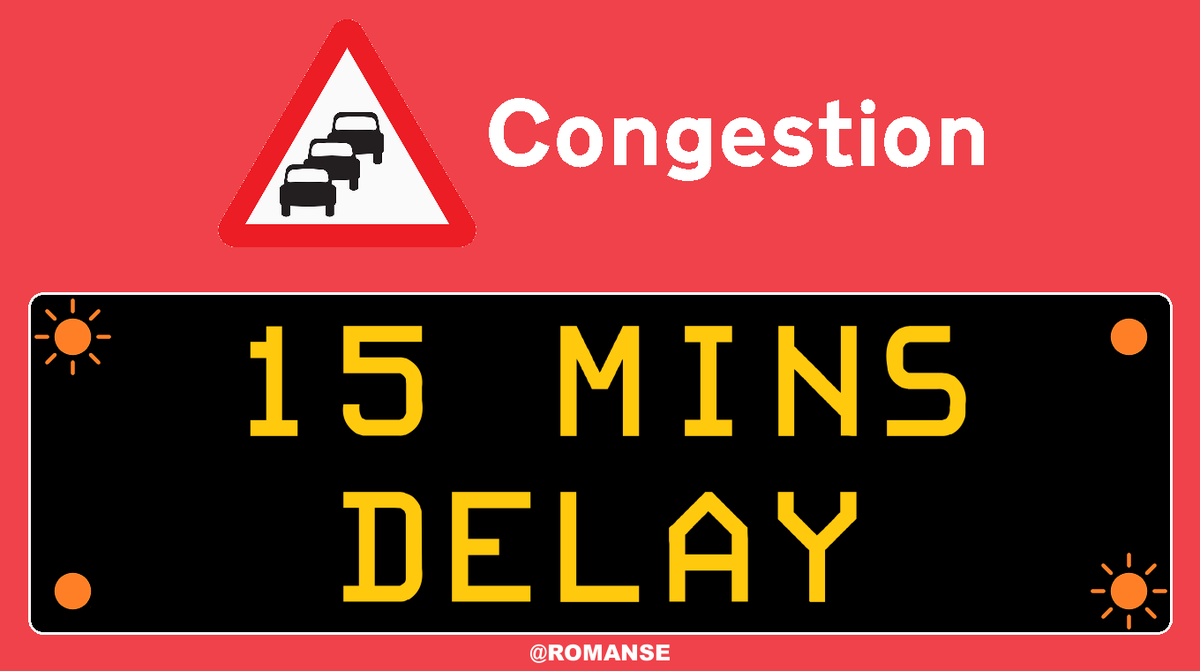 #M27 Westbound - Slow between J2/#A36 #Ower and J1/#A31 #Cadnam, approx 15 minute delays.