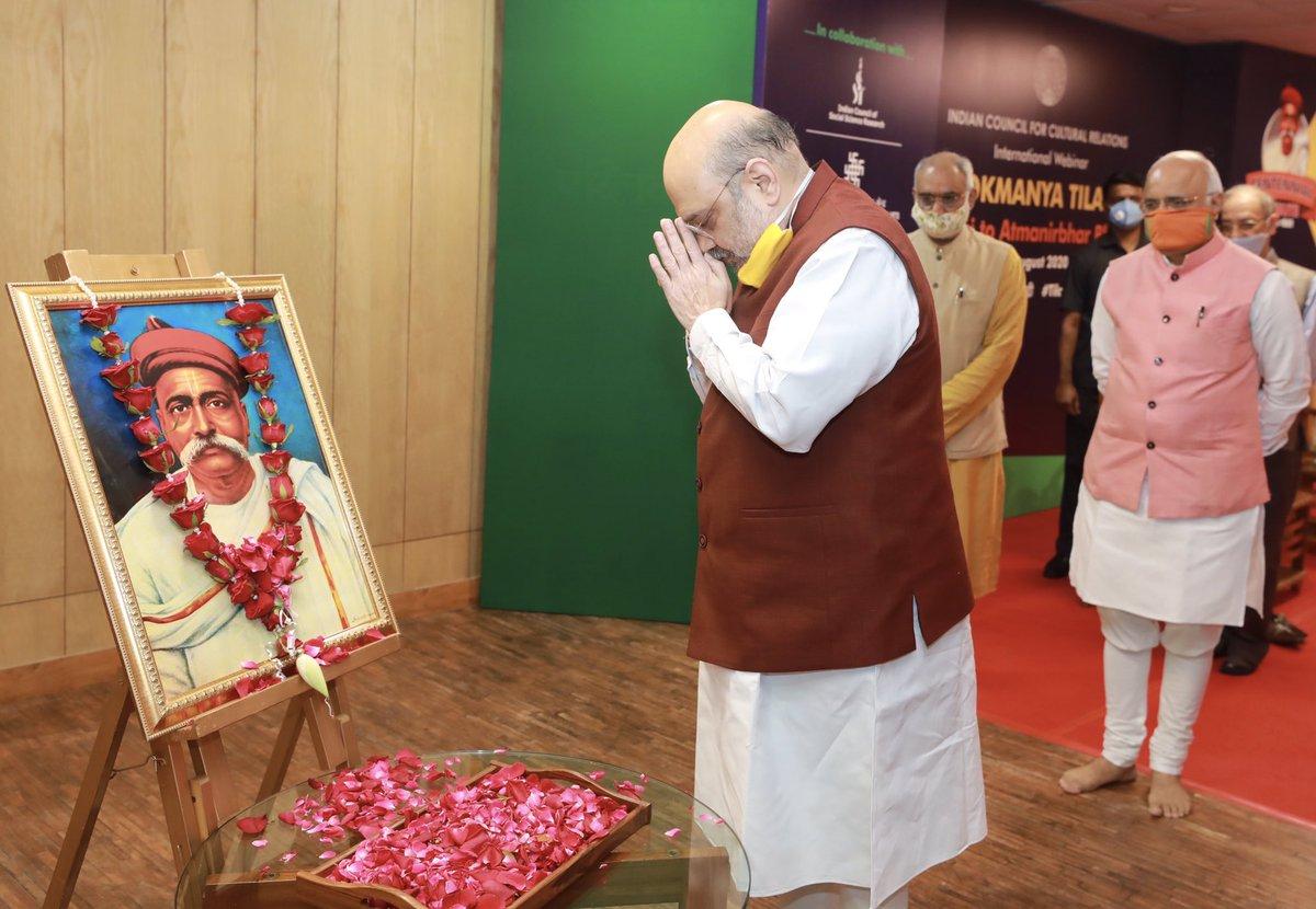 Addressed a webinar 'Lokmanya Tilak: Swaraj to Atmanirbhar Bharat' organized by @ICCR_Delhi on the 100th punyatithi of Lokmanya Tilak.  This seminar will surely inspire the nation by connecting Modi ji's resolve of Atmanirbhar Bharat with Lokmanya Tilak ji's vision of Swaraj.