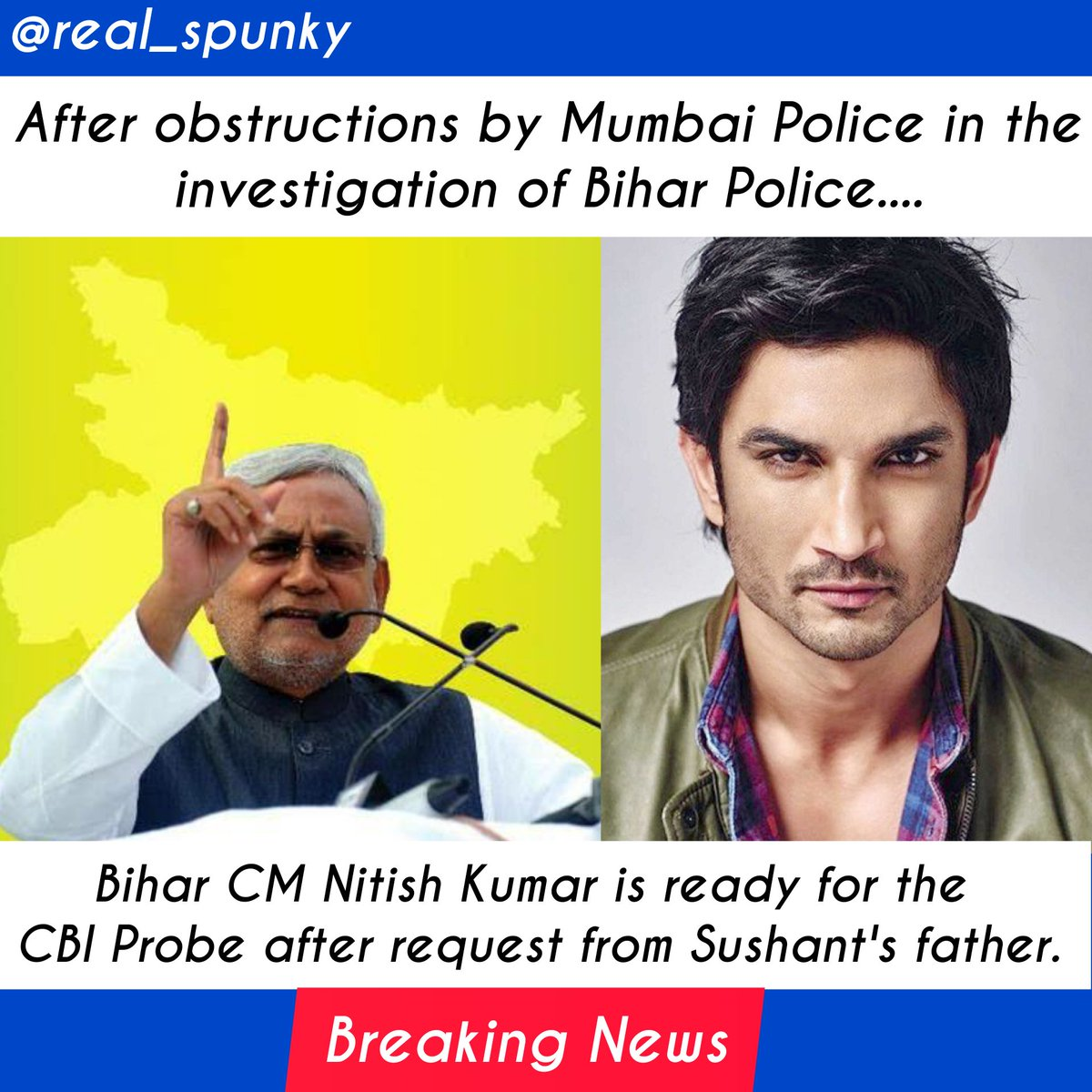 Bigg Breaking 🔥for @itsSSR  Now hope that no culprits would be leaved including biggies😬 🙌 #UddhavResignOrCBI4SSR #CBIforShushant  #MumbaiPoliceExposed