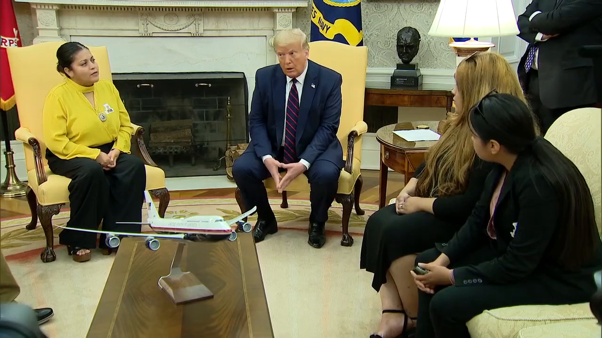 President @realDonaldTrump met with the family of Army specialist Vanessa Guillén in the Oval Office on Thursday.