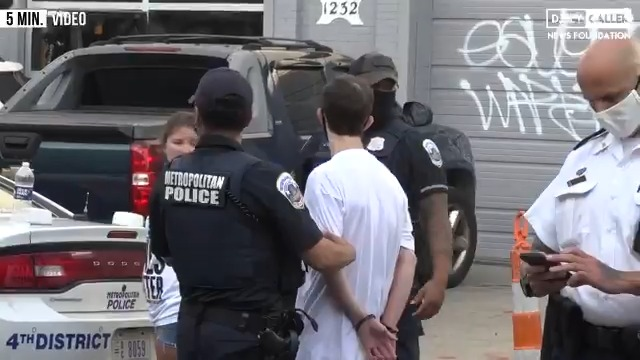 """Pro-life students were arrested for writing """"Black Pre-born Lives Matter"""" outside a Washington DC Planned Parenthood with chalk."""
