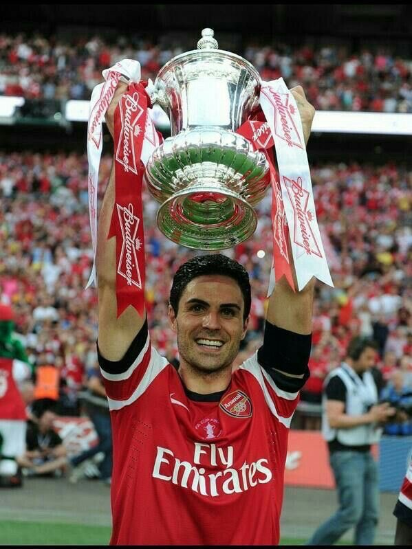 Mikel Arteta. FA Cup winner for Arsenal as a captain and now manager. Legend.