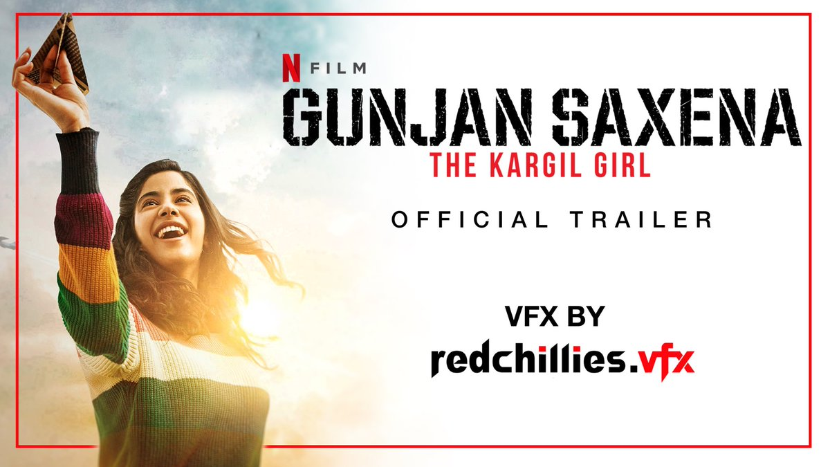 We are proud & thankful to be a part of recreating a historic moment that redefined women's contribution to the Indian Air Force. Salute to #GunjanSaxena & #IndianAirForce . Hope you guys like the VFX. Releasing 12th August on @NetflixIndia .   -🌶✈️🇮🇳